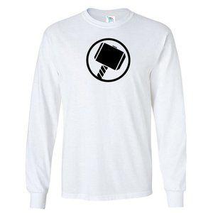 Men's Thor Hammer T-Shirt Long Sleeve